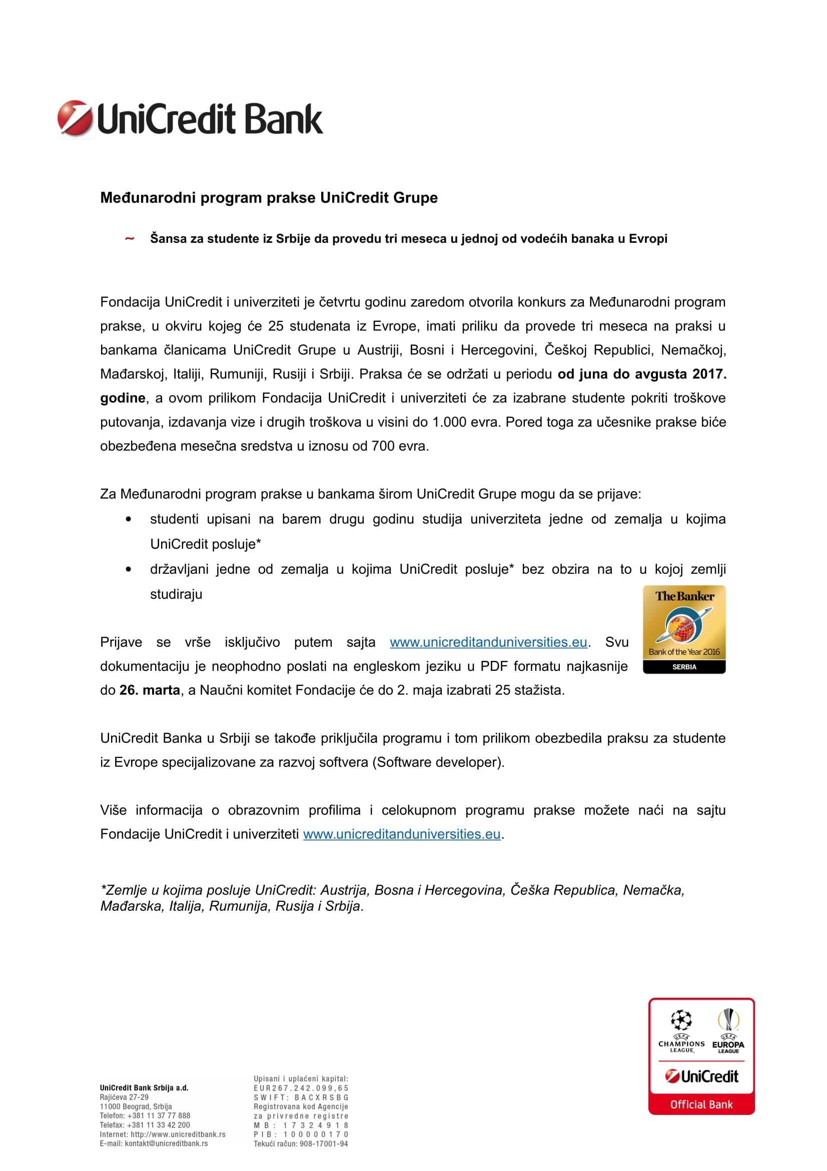 UniCreditov Međunarodni program prakse-1