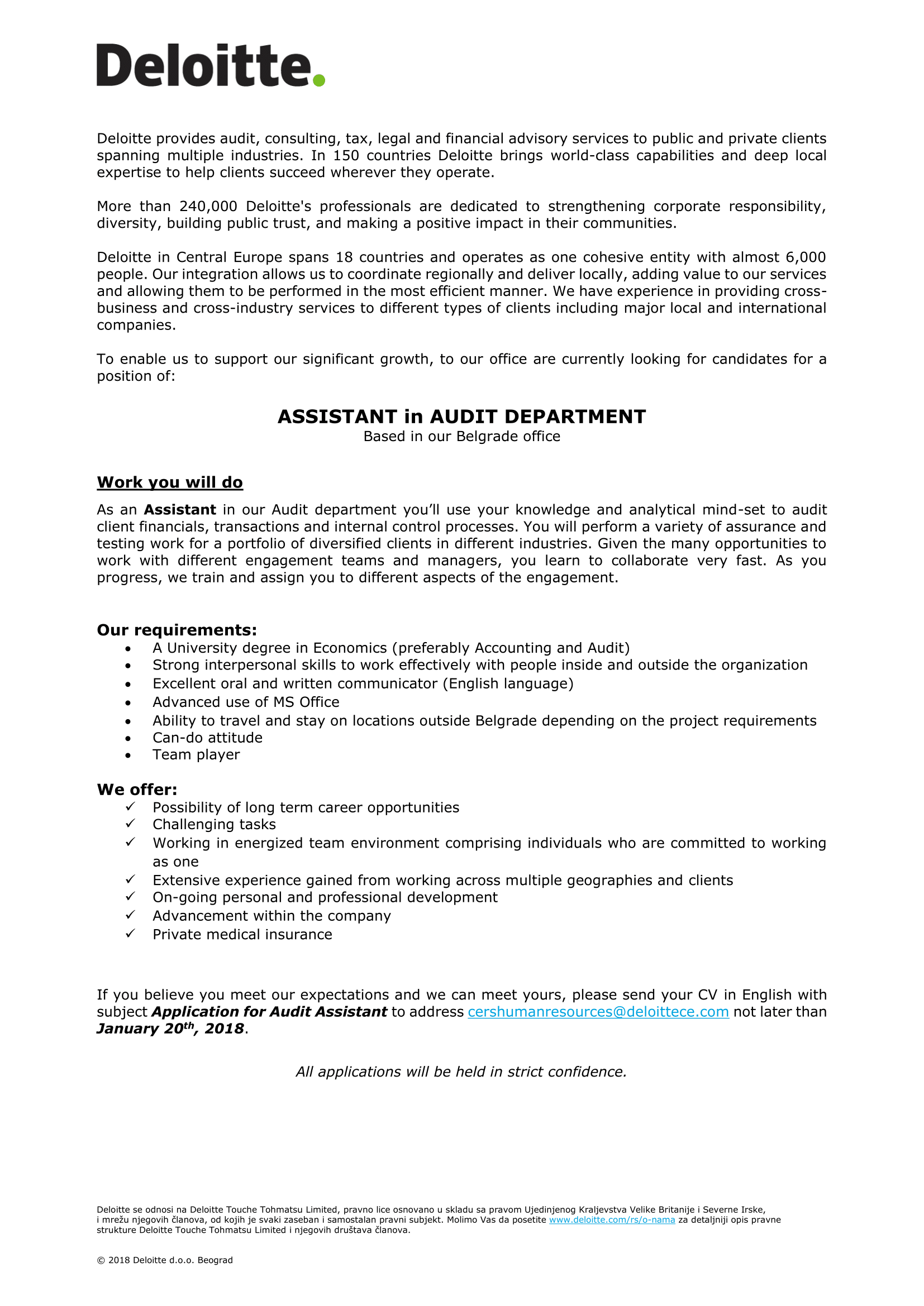 Audit Assistant - januar 2018-1