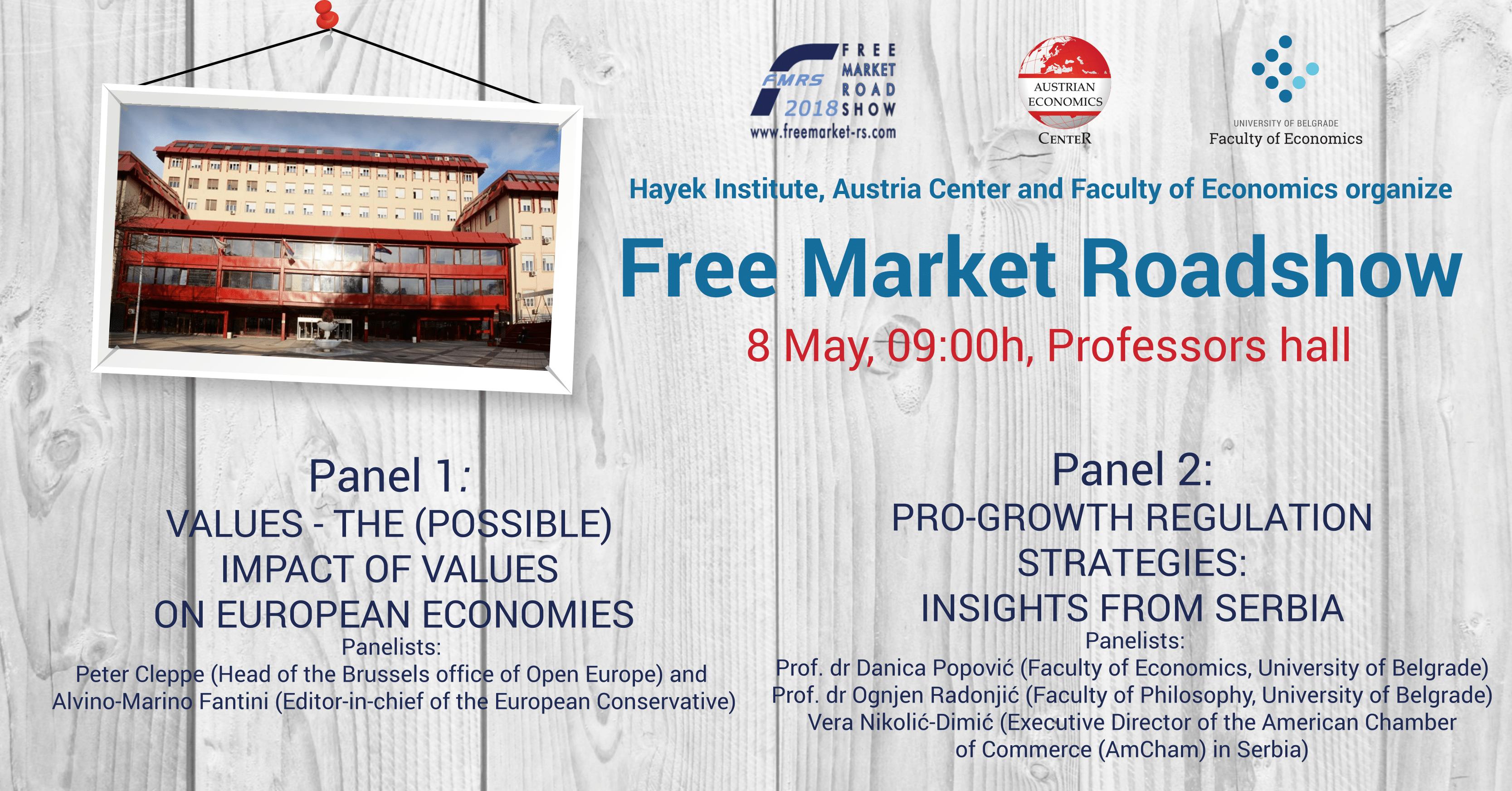 Free Market Road Show – FMRS | Економски факултет