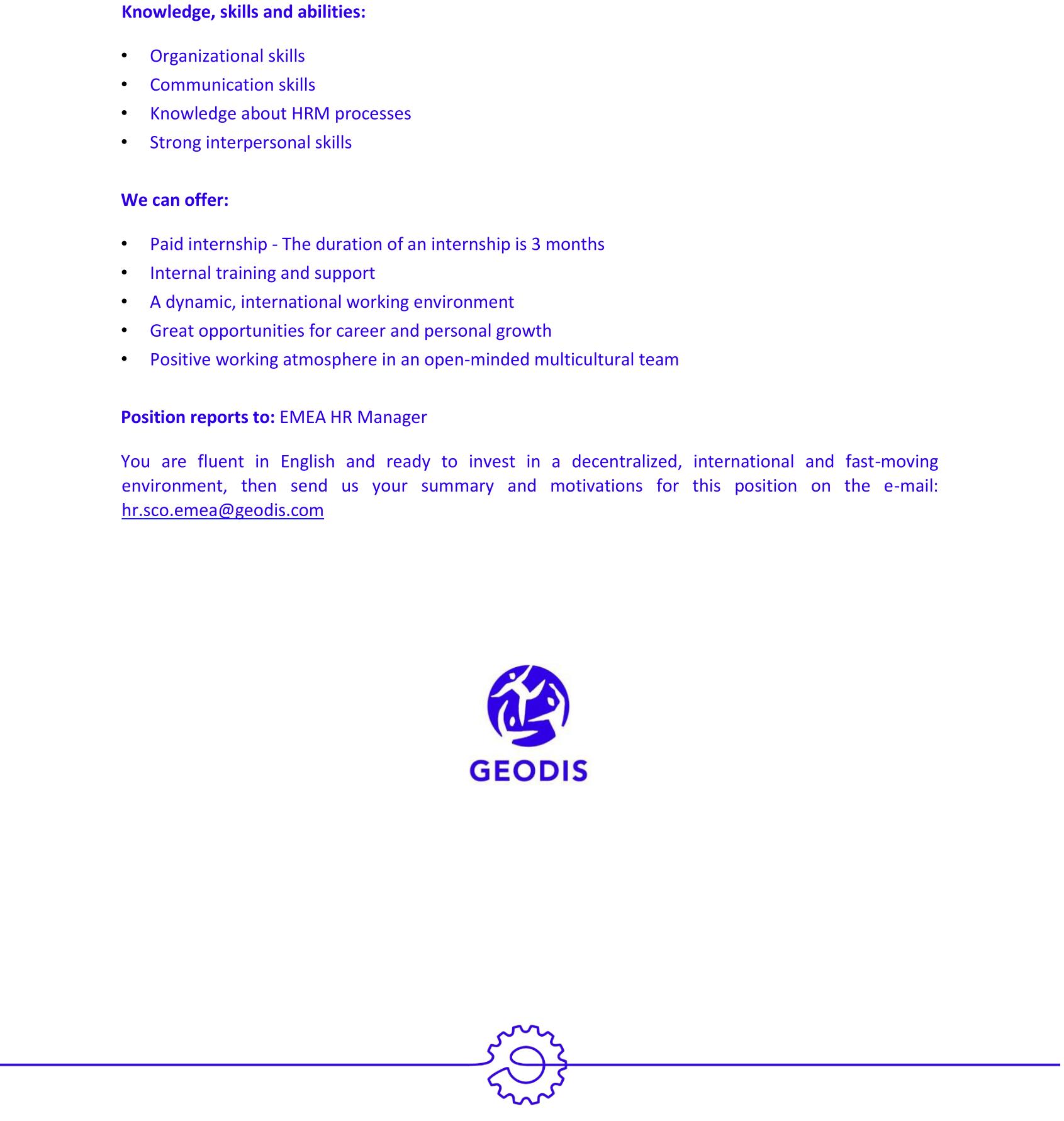Internship announcement HR Intern-2