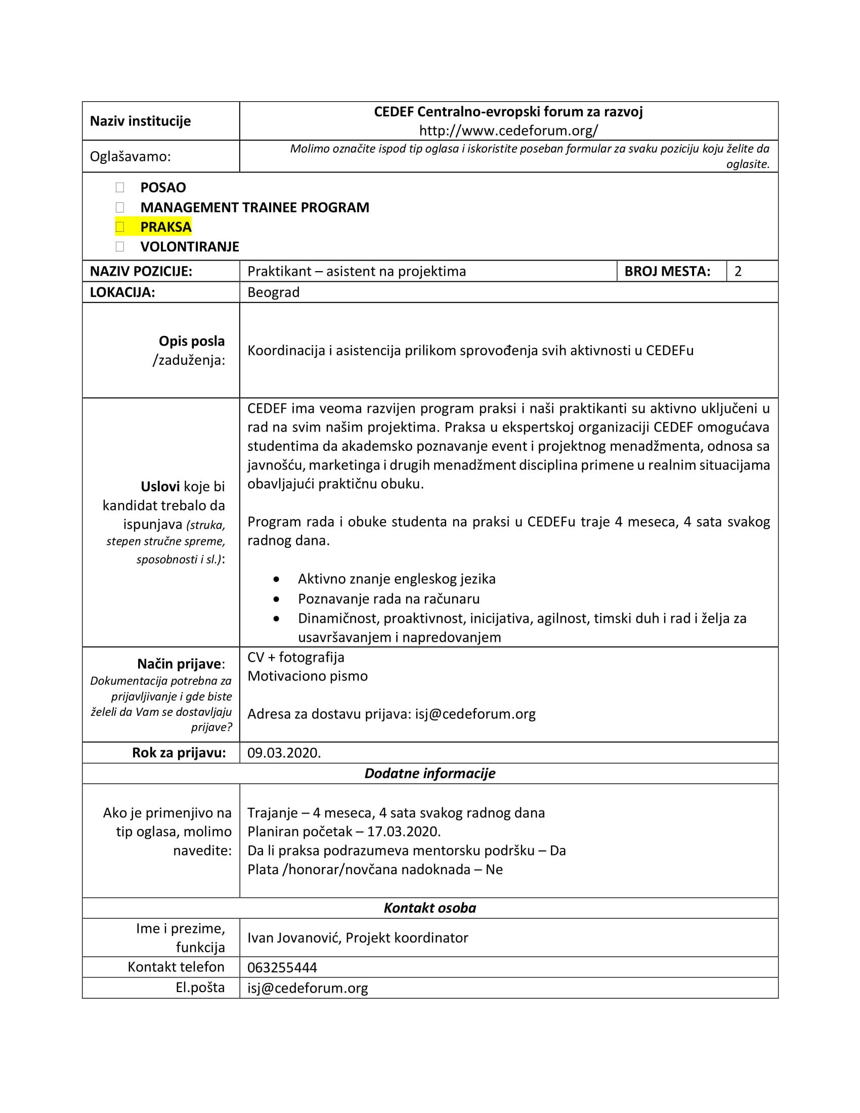 Formular_za_oglasavanje - CEDEF - strucna praksa-1